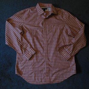 NEW Banana Republic Large Red Plaid Button Shirt